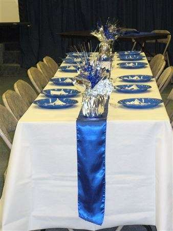 blue and silver dinner party party ideas sma decorating ideas rh pinterest com
