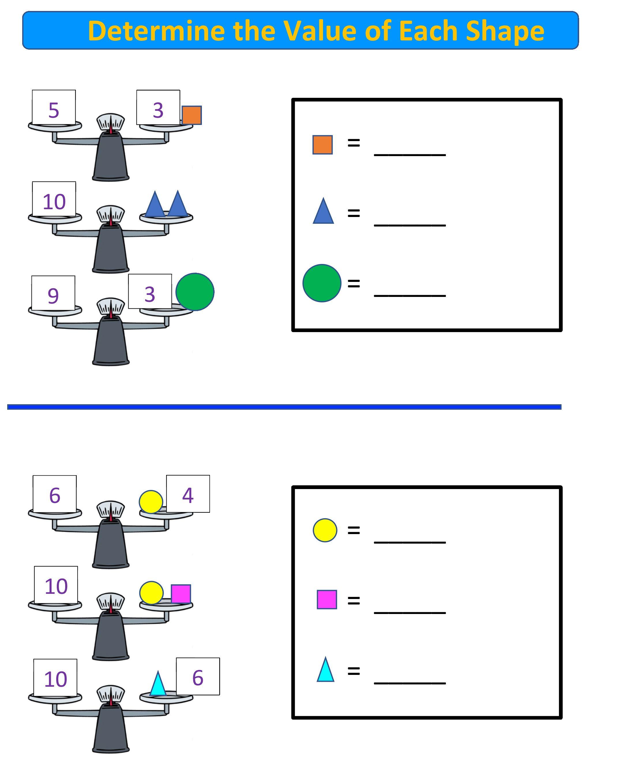 Free Math Worksheet for K-2nd Grade! Balance Scales! in 2020   Free math  worksheets [ 2634 x 2174 Pixel ]