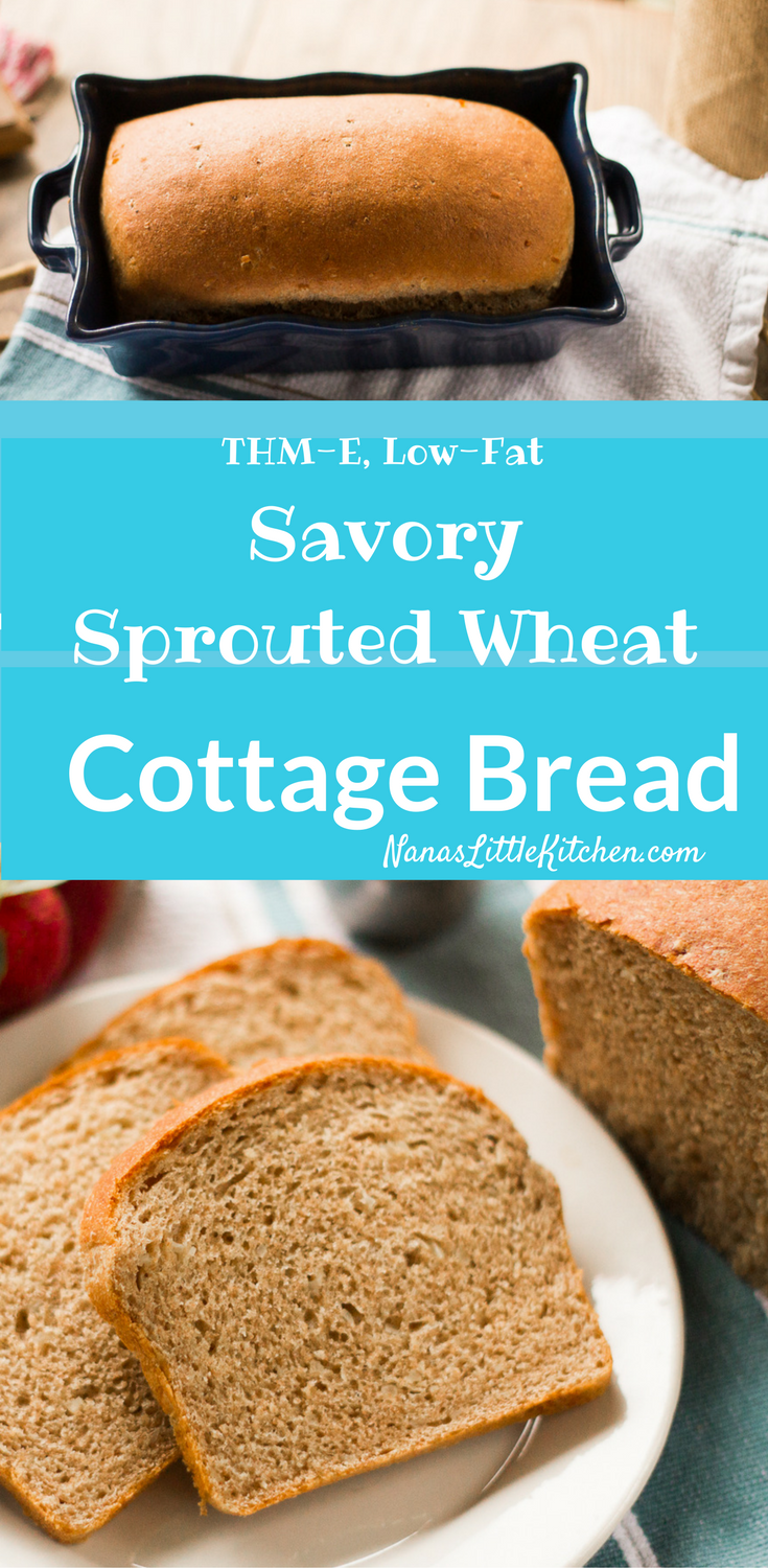 Savory Sprouted Wheat Cottage Bread is a delicious sandwich bread ...