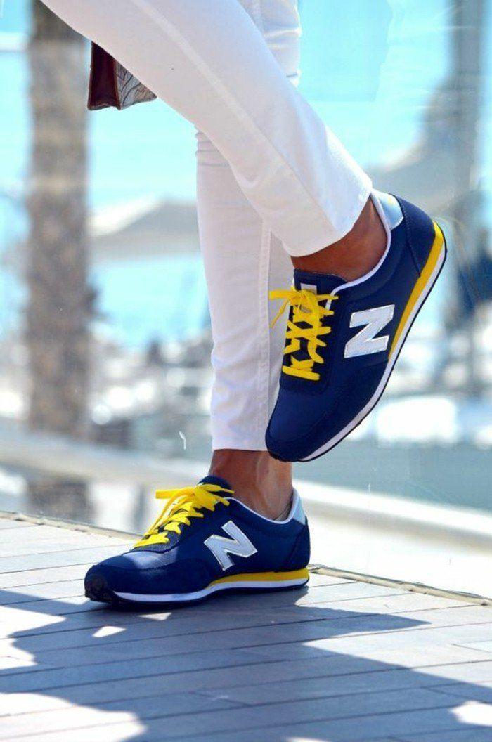 basket new balance femme jaune
