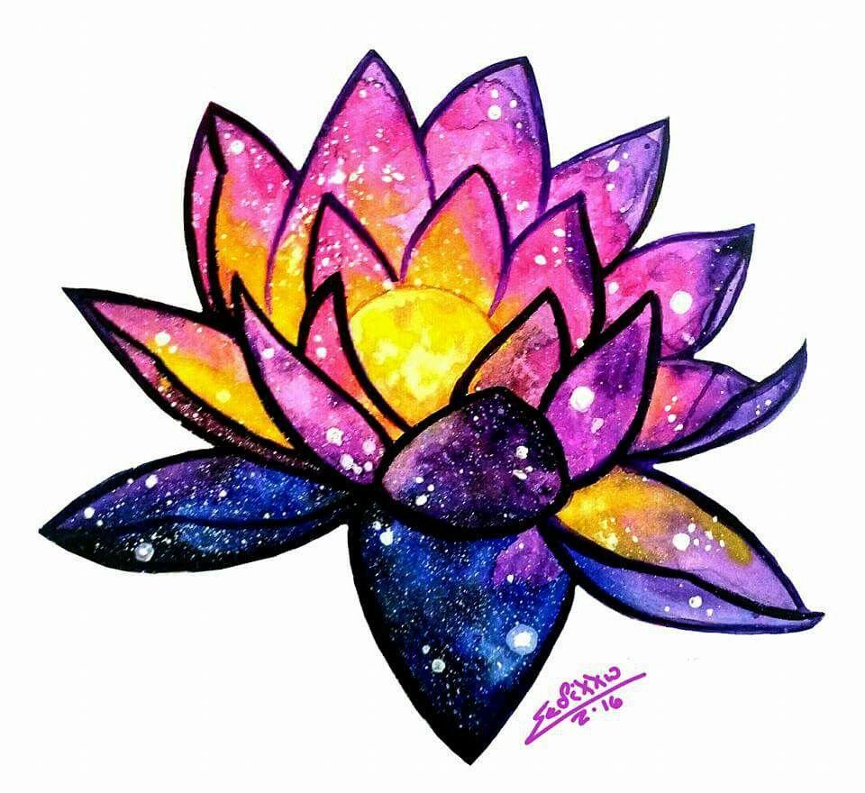 Orlando S Space Lotus Crystals Art Drawing