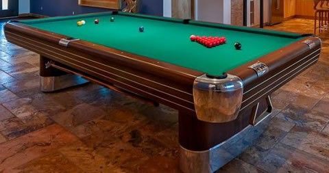 restored the anniversary billiard table with gleaming corner rh pinterest com