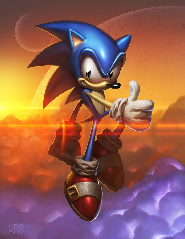 Sonic The Hedgehog By Edsfox On Deviantart