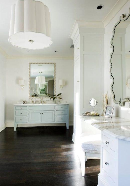 chic elegant master bathroom design with white scallop pendant rh pinterest ch