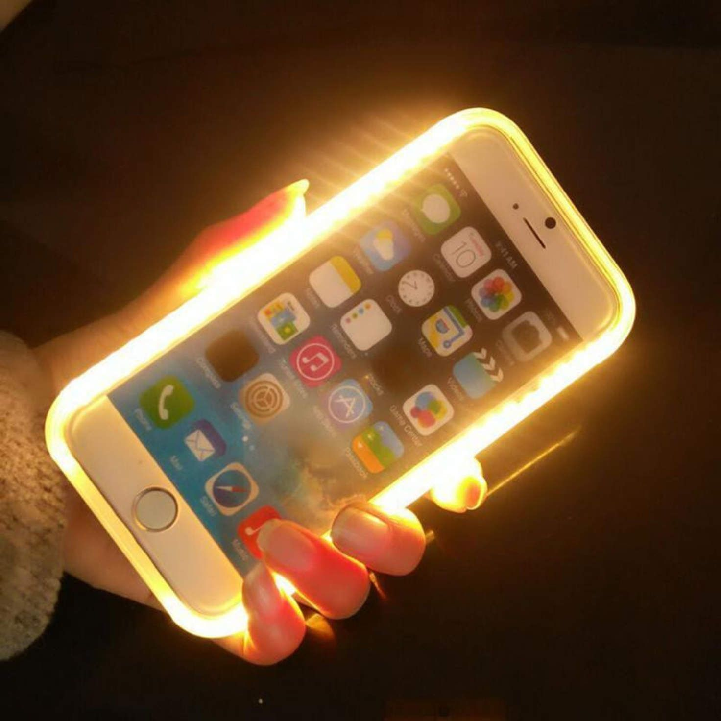 big sale b98da 5b0dd New Light up Lum LED Selfie Light Case for iPhone 7 Plus 6 6s 5 5s ...