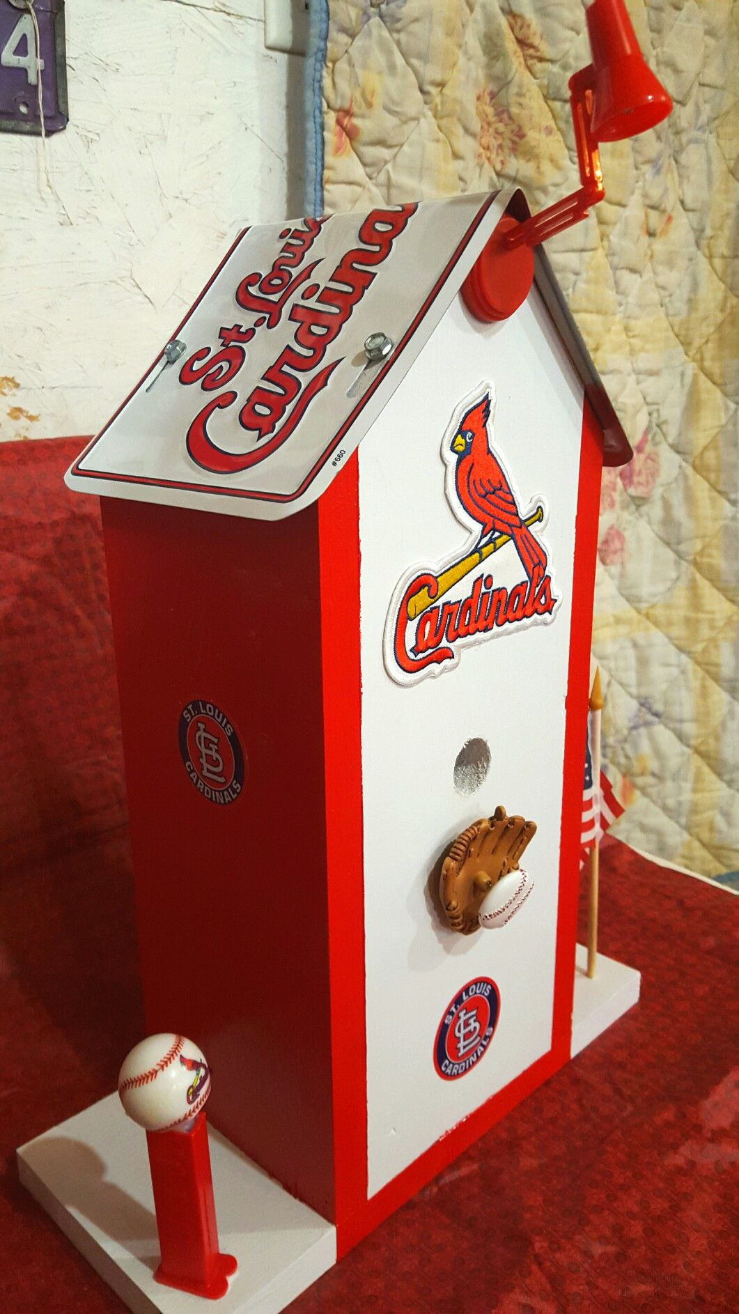 st louis cardinals birdhouse no2alike 2018 birdhouses made in rh pinterest com