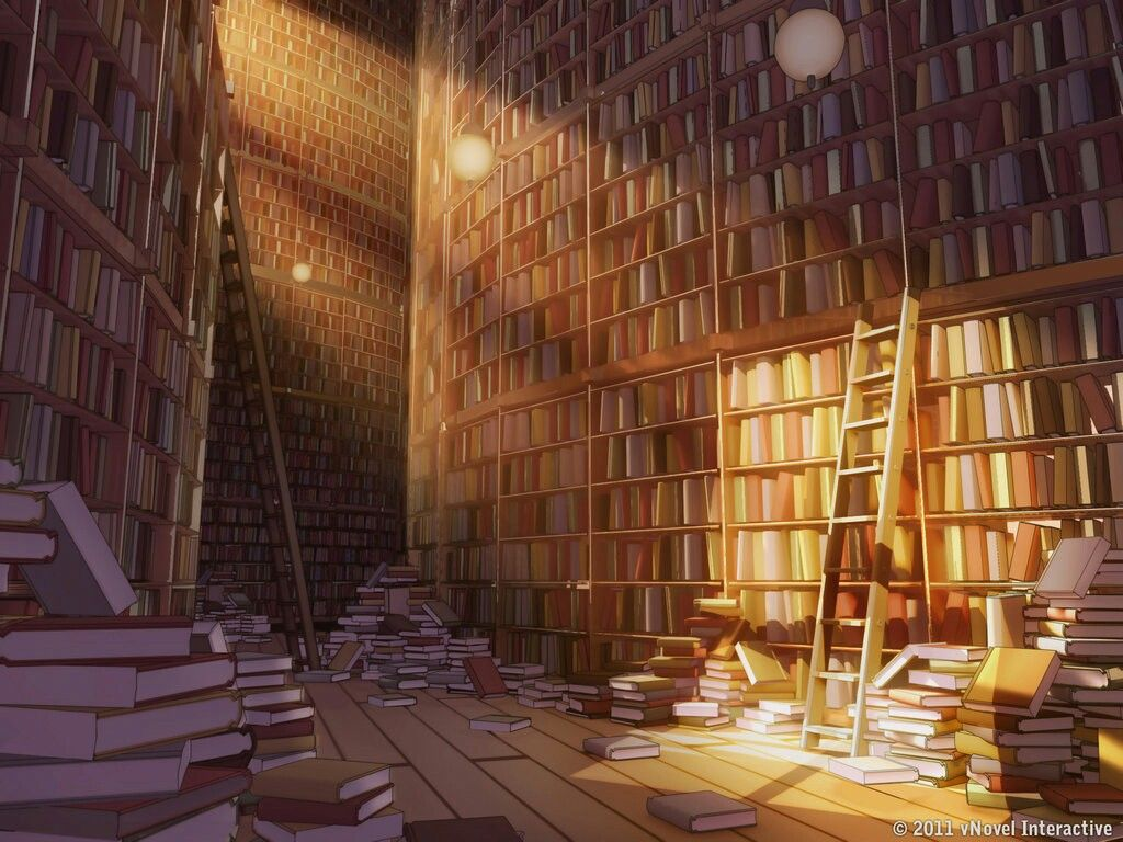 Library Filled With Books Anime Scenery Wallpaper Anime Backgrounds Wallpapers Episode Backgrounds