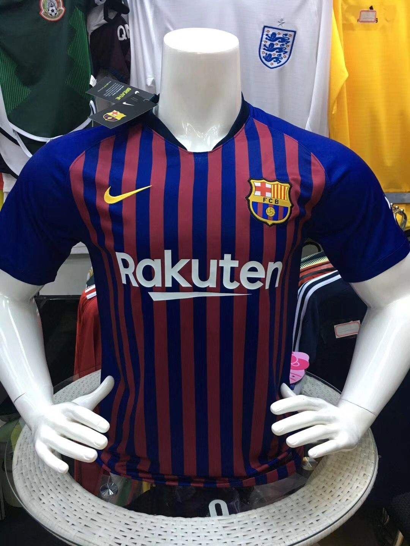2f8bbdf86e11f3 2018-2019 club Barcelona home fans whatsapp:+8613517692618 football jersey  soccer jersey fans