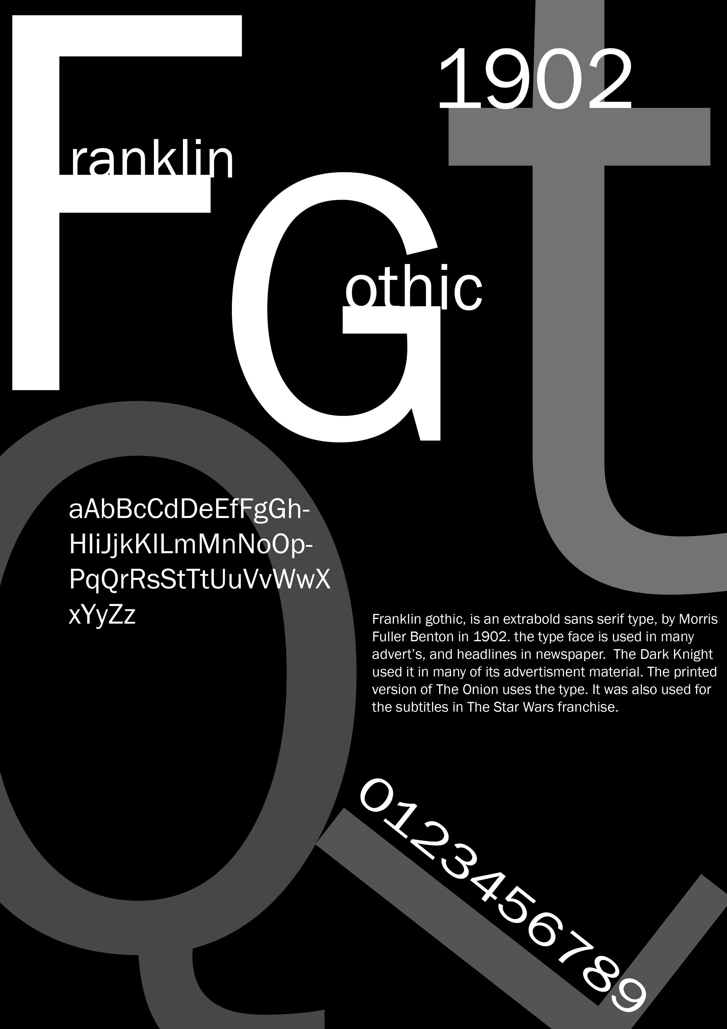Franklin Gothic font family - Typography