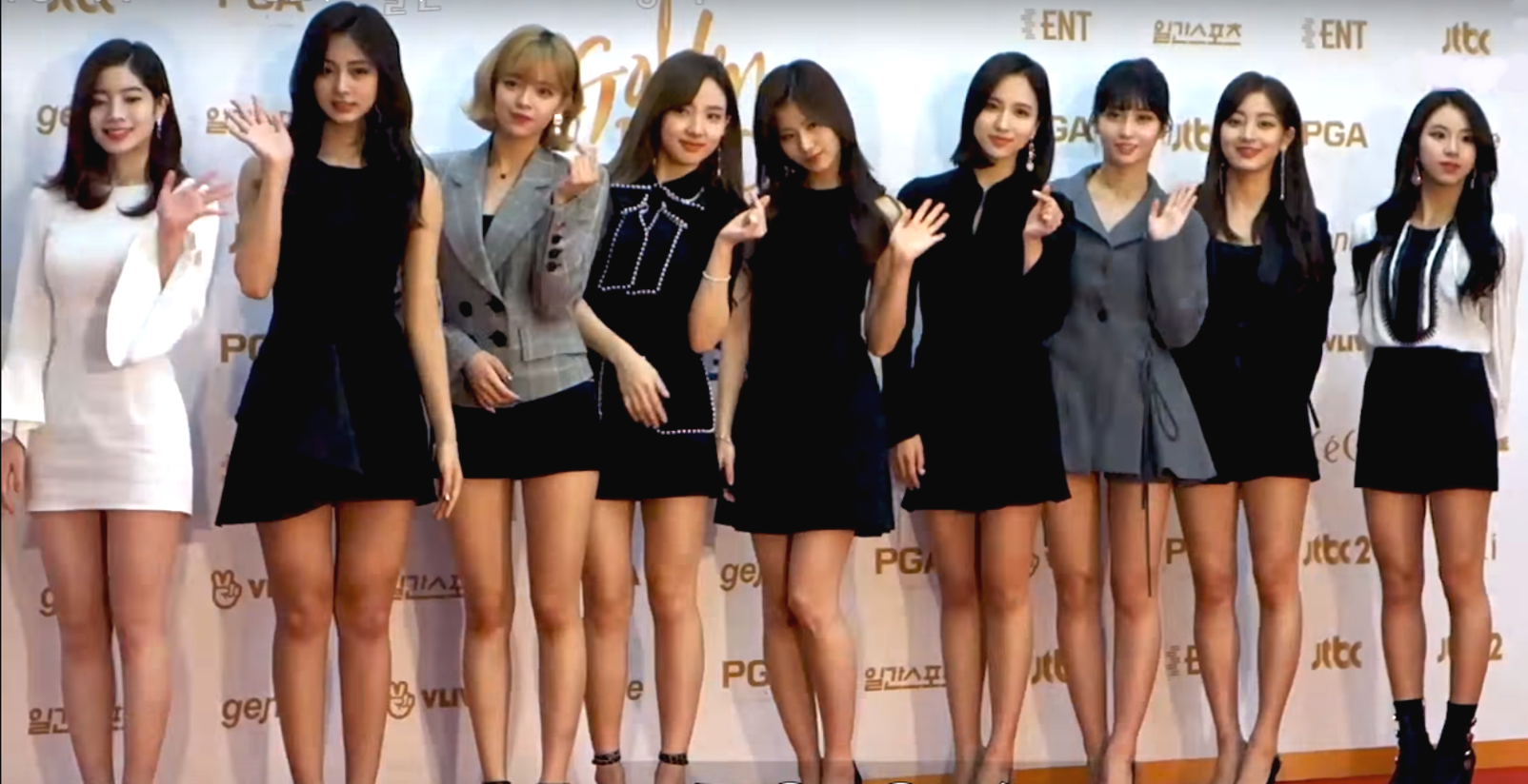 Twice On The Red Carpet Of The Golden Disk Awards On January 10