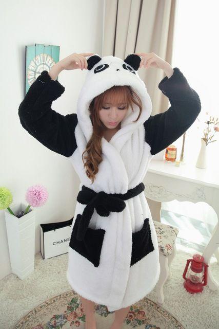 d004c1e698 New Animal Pajamas plush robe 2015 Kung Fu Panda Pajamas Sleepsuit  Sleepwear Unisex pijamas panda bathrobe robes for women