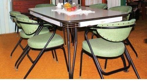 retro vintage laminex 6 seat dining suite table 6 vinyl arm chairs rh pinterest com