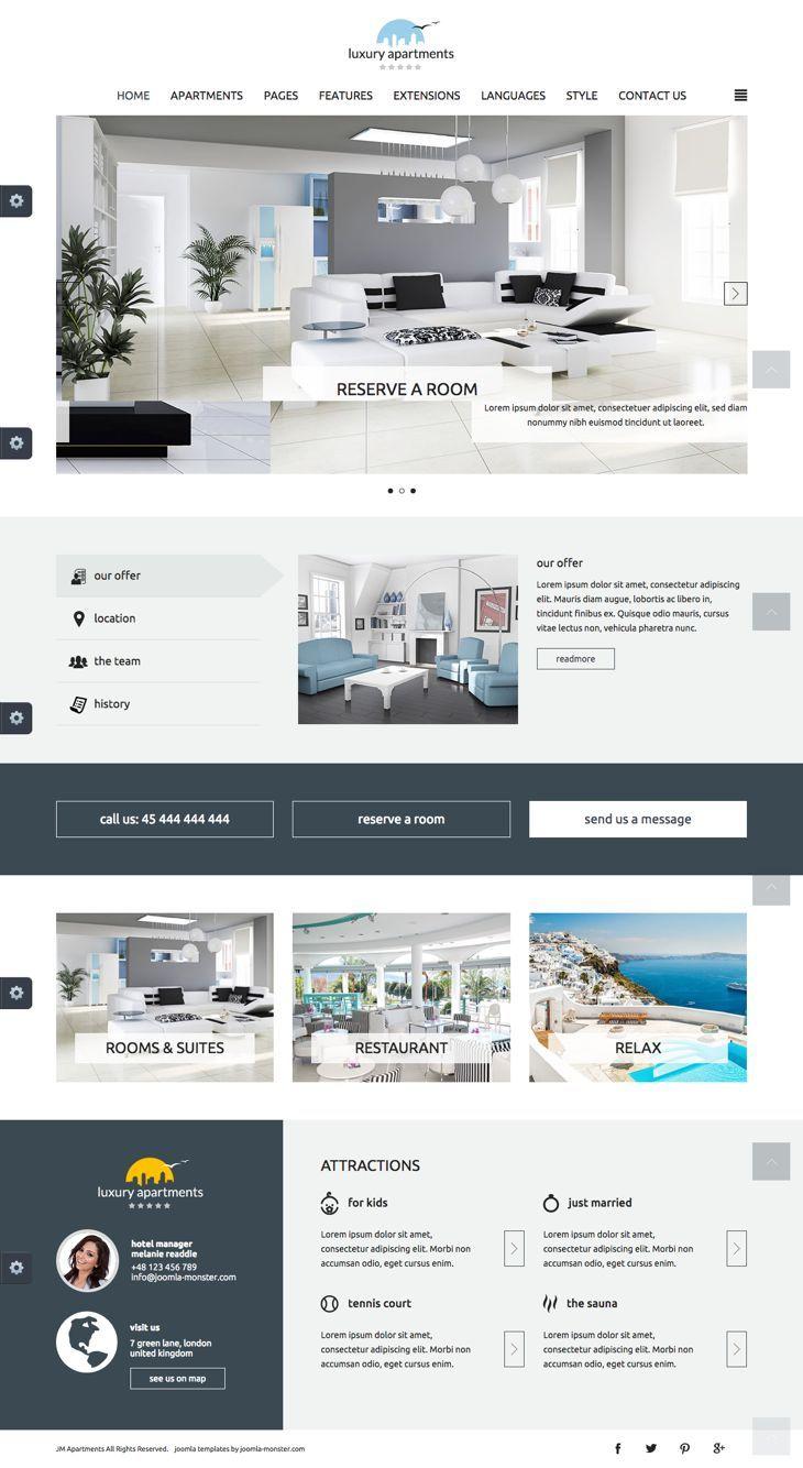 JM Apartments Joomla Restaurant Booking Template | Premium Joomla ...