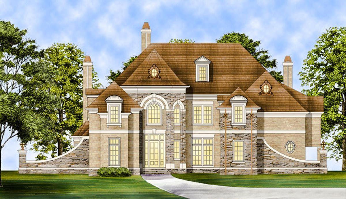 Plan 12299jl Designed To Impress Luxury House Plans House Plans Castle House Plans