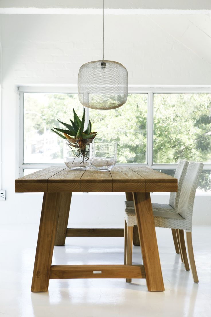 beautiful wooden dining table perfect for entertaining