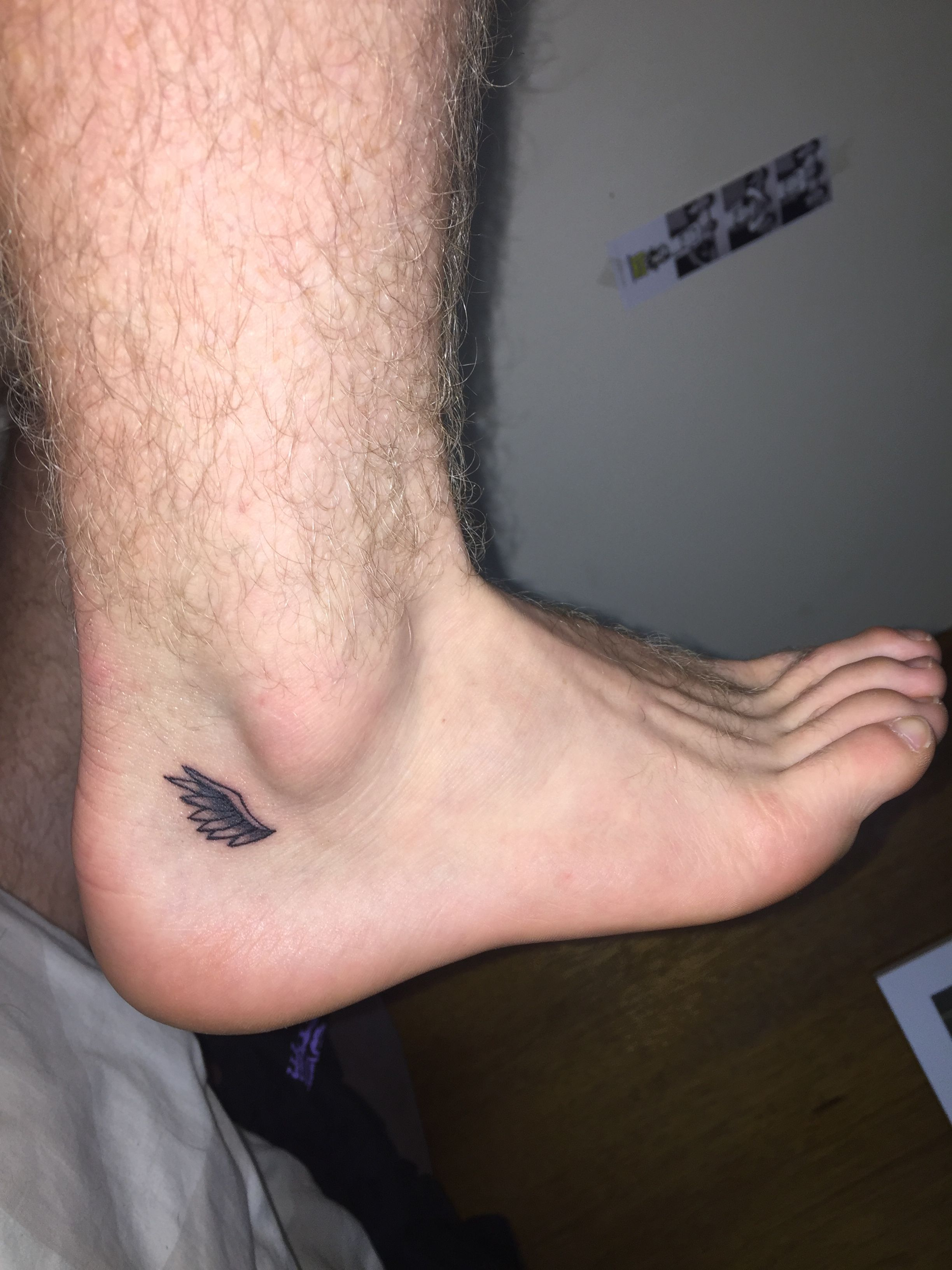 Angel Wings Tattoo Small Ankle