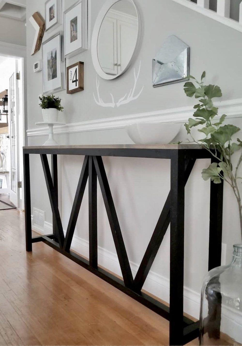 15 diy table projects farmhouse console table diy