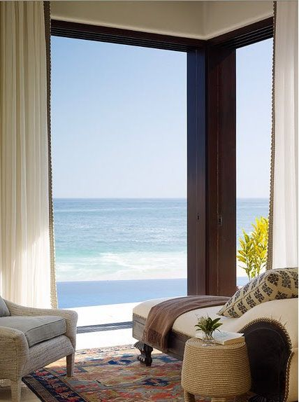 Gorgeous Living Room with a beautiful view of the ocean!