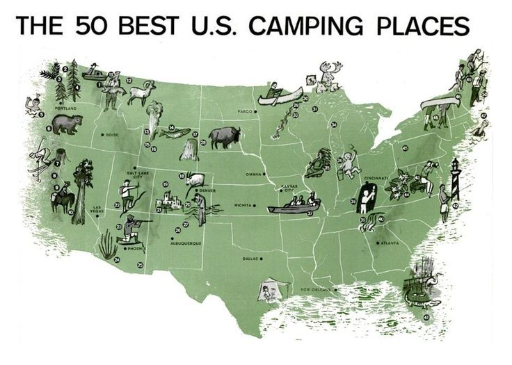 The 50 Best Camping Places In The Continental Usa Adventureideaz