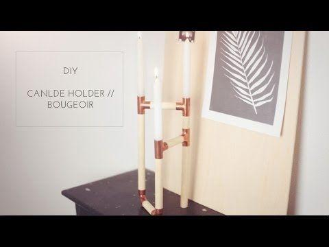 DIY Copper Candle Holder // Bougeoir en cuivre - YouTube