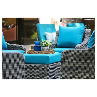 cherry hill 7pc resin wicker deep seating with sunbrella fabric rh pinterest com