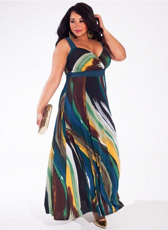Jade Wave Plus Size In Maxi Curvy Dresses Dress Trista zqRXUU