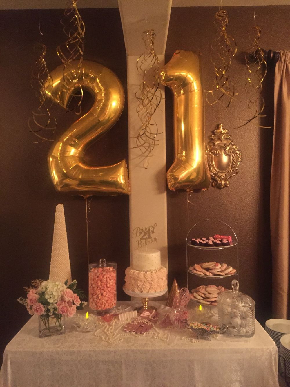Pink and gold st birthday celebration th party themes also best images ideas ts anniversary rh pinterest
