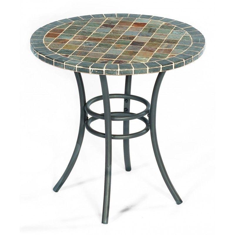 Gartentisch Mountblanc Mit Eisengestell Und Mosaiksteinplatte