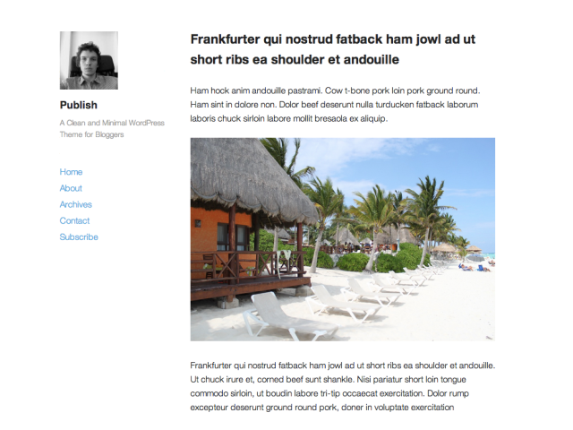 Publish Theme — WordPress Themes for Blogs very basic theme with ...