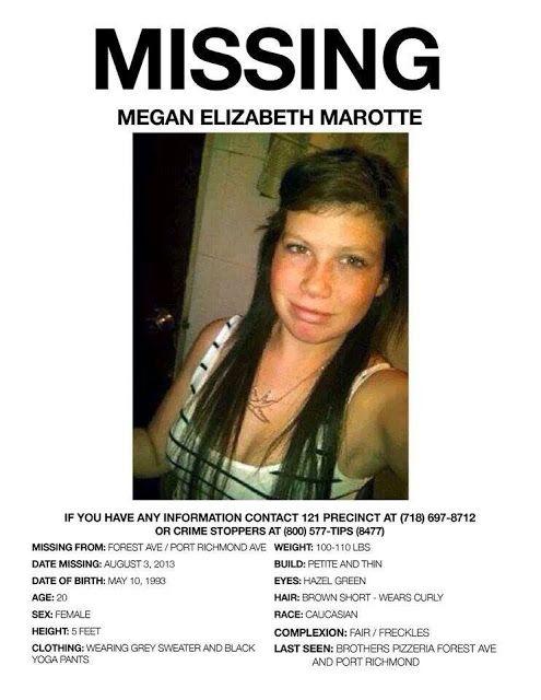 Megan Elizabeth Marotte Missing From Port Richmond Found