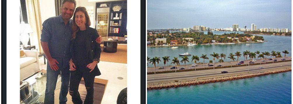 De recesso, Aécio Neves PSDB MG curte férias em Miami