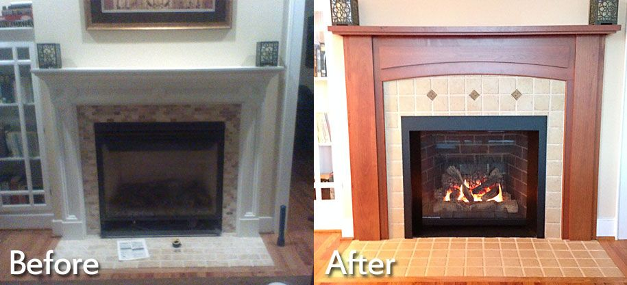 before u201d and u201cafter u201d images from fireplace and hearth installations rh pinterest com