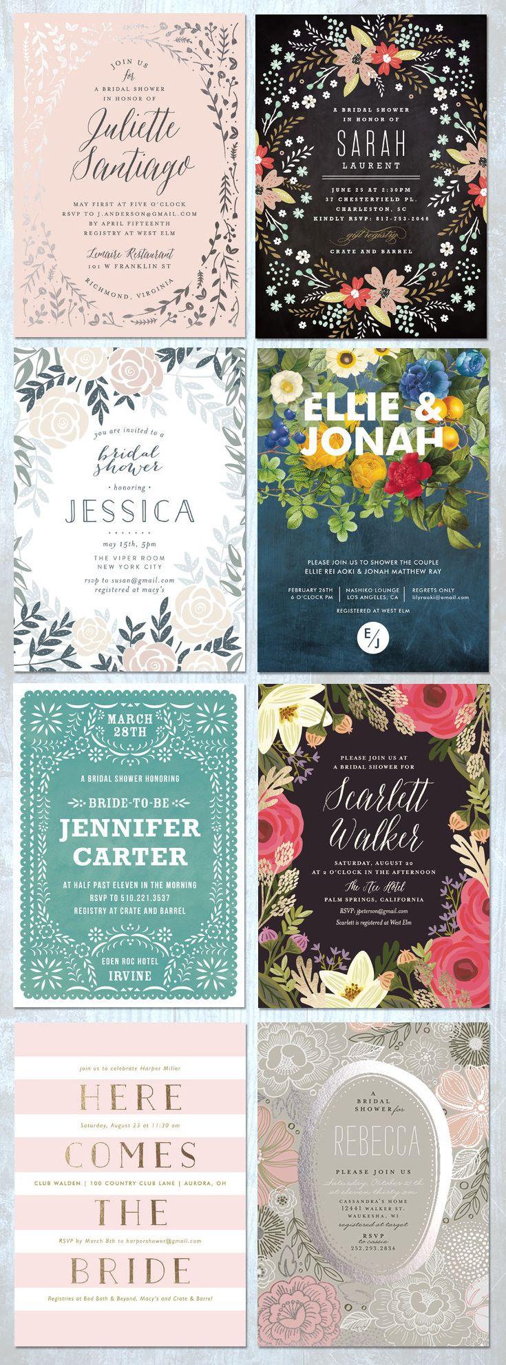 creative bridal shower invitation ideas%0A Minted Bridal Shower Invitations