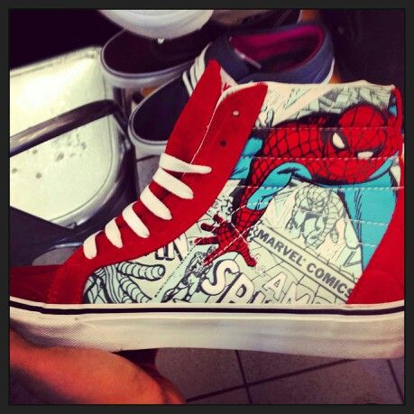 Spiderman shoes!!