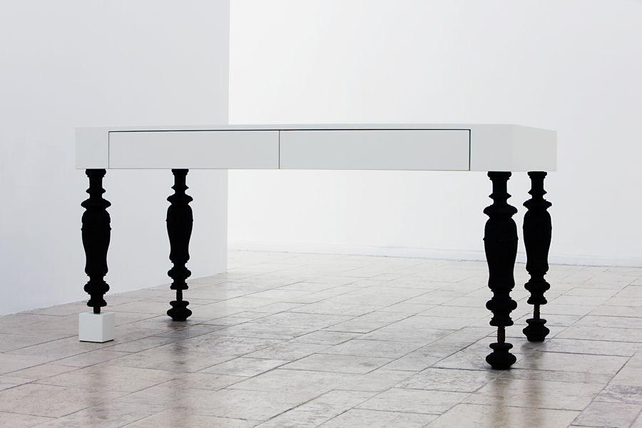 Fehér Asztal White table, Table, Furniture