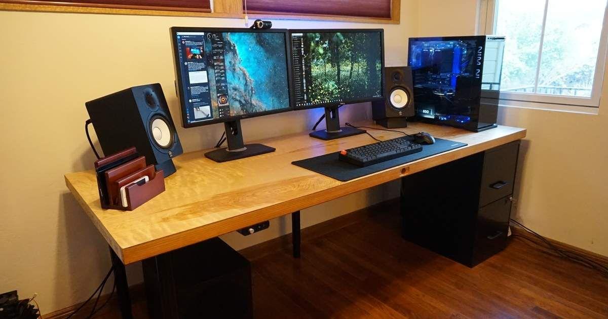 Diy Diy Desk Filing Cabinet Desk Custom Desk Wood Plank Desk