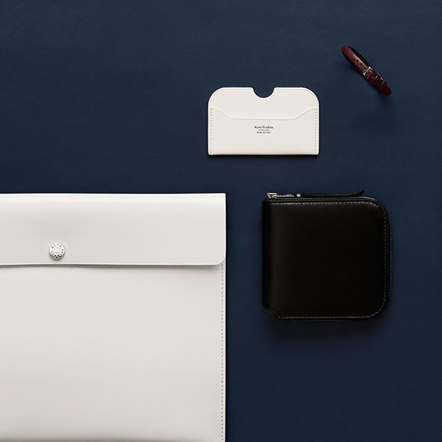 """""""AcneStudiosSLG small leather goods launching tomorrow"""