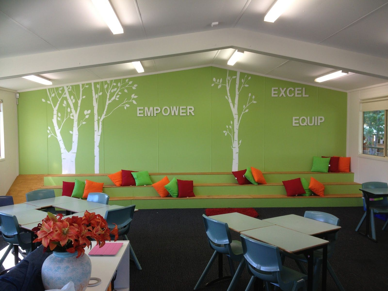 Classroom Design Modern : Great functional use of wall modern school interior and