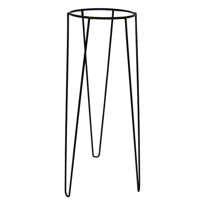 Lotus Collection 25 X 75cm Black Metal Plant Stand With Images