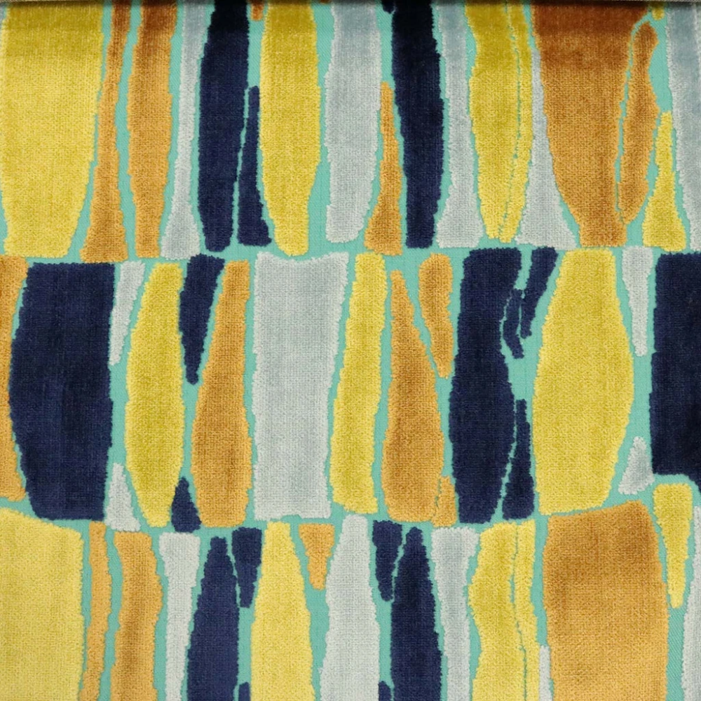 Society - Modern Pattern Cut Velvet Upholstery Fabric by the Yard - Available in 9 Colors #velvetupholsteryfabric