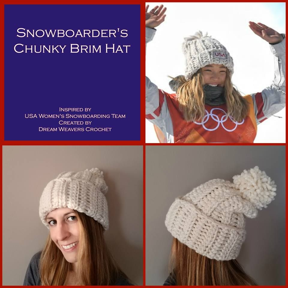 Free Crochet Chloe Kim Inspired hat pattern by Dream Weavers Crochet  available for download on Yarn Ballin! 56bb61dd27a