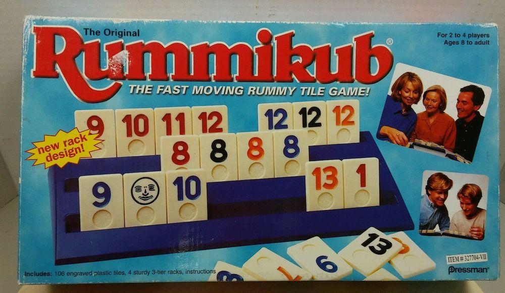 Vintage The Original Rummikub Fast Moving Rummy Tile Game New