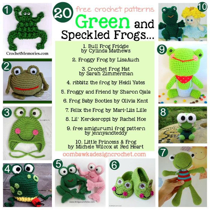 20 Free Patterns for Crochet Frogs | Ganchillo, Patrones y Animales