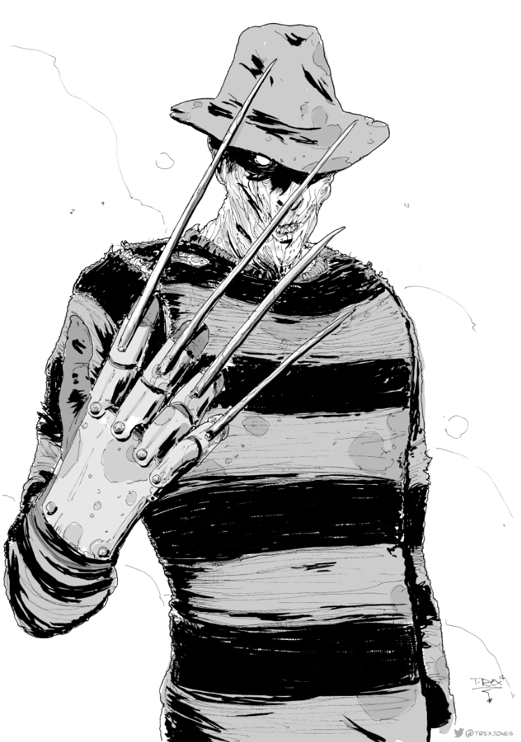 Freddy Krueger Horror Movie Art Freddy Krueger Art Freddy Krueger