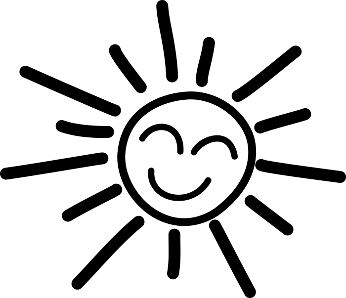 Black Figure Png Clipart Black And White Happy Sun Clip Art