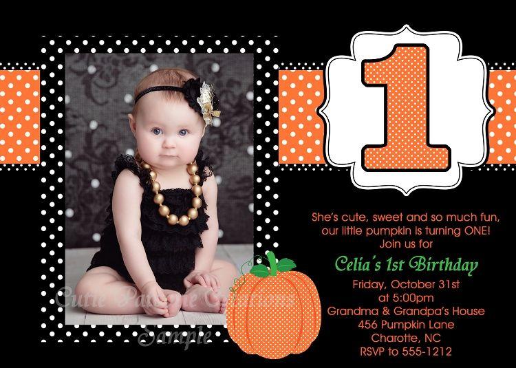 1st birthday pumpkin invitation halloween costume party 1st birthday pumpkin invitation halloween costume party invitations filmwisefo