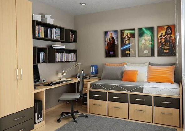 Modern Room Designs For Teenage Boys Pictures Home Office Design Small Bedroom Office Small Bedroom Desk
