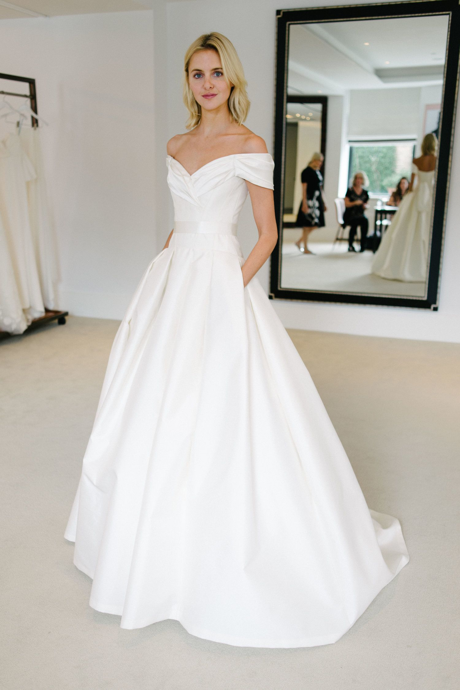 Behind The Scenes With The New Carolina Herrera Collection Little White Dress Bridal Shop Denver Colorado S Best Designer Wedding Dresses And Accessories Wedding Dress Brands Designer Wedding Dresses White Bridal Dresses