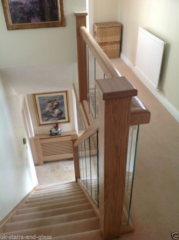 Best Details About Glass And Oak Balustrade Refurbishment Kit 640 x 480