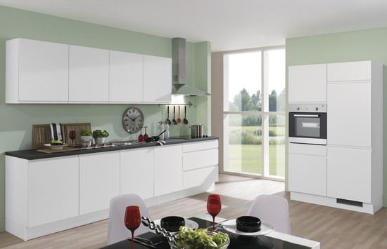 Küchenblock PN 300 weiß ulme u2022u2022 Front und Korpus weiß - küche hochglanz weiss